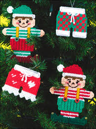 plastic canvas whimsical ornaments