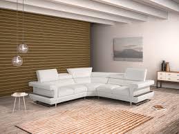 Modern White Leather Sectional Sofa by Bolero Modern White Italian Leather Sectional Sofa