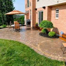 Front Yard Patio Front Yard Concrete Block Pavers With Nice Pattern Patio Design