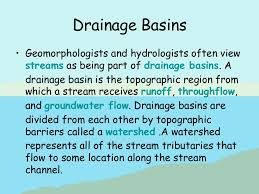 definition pattern of drainage drainage basins and hydrographs