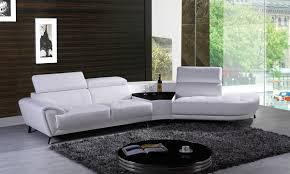 White Leather Sectional Sofas Divani Casa Raizel Modern White Leather Sectional Sofa W Right