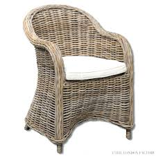 Wicker Dining Chairs Ikea Dining Chairs Nice Burnt Grey Rattan Linen Polyester Fabric