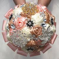 Quinceanera Bouquets Cheap Champagne Pink Bouquet Free Shipping Champagne Pink