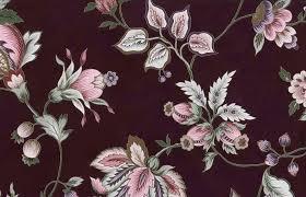 maroon floral vintage wallpaper pink rose green gold metallic 24702
