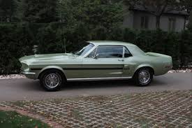 1968 ford mustang black seller of cars 1968 ford mustang lime gold black