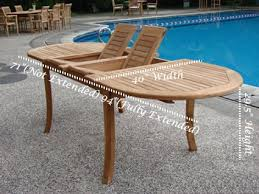 Teak Outdoor Dining Table And Chairs Captivating Best Of Extendable Outdoor Table Extending Teak Patio