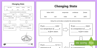 ks2 science changing materials worksheets page 1