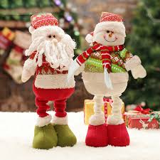 new year toys retractable christmas tree stand santa claus snowman new year toys