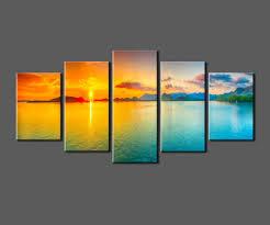 aliexpress com buy sunset ocean view framed large hd canvas