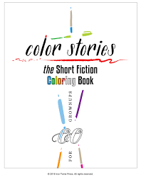 color stories the short fiction coloring book iron twine press