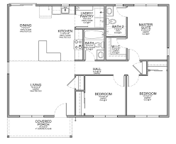 small house floor plans with porches floor plan for affordable 1 100 sf house with 3 bedrooms and 2