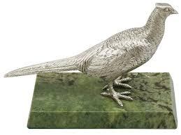 sterling silver pheasant hen vintage elizabeth ii for sale at 1stdibs