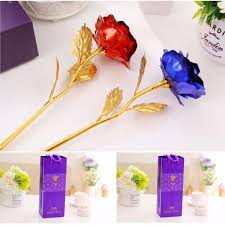 creative golden rose 24k gold foil rose birthday wedding party