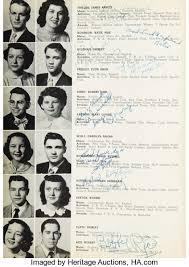 school yearbook pictures elvis and george klein signed 1953 high school yearbook