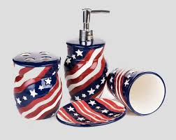 Blue And White Bathroom Accessories by Red White And Blue Bathroom Accessories Ideas Home Interior