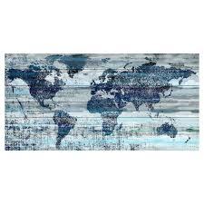 World Map Wood Wall Art by Oliver Gal Mapamundi White Gold Canvas Art Hayneedle