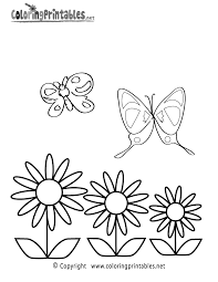 spring butterflies coloring page a free seasonal coloring printable