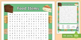 food items word search german german mfl food essen