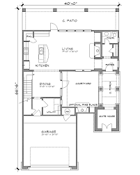 House Plans With A Courtyard The Savino 4231 4 Bedrooms And 2 Baths The House Designers