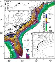 Map Of United States East Coast by Fig 1 Dynamic Topography Change Of The Eastern United States