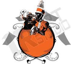band logo designer vector background for marching band logo design for t shirt 1