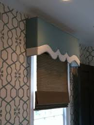 Foam Board Valance Cornice Detail Blue Band On Bottom Is Removable So That Shutters