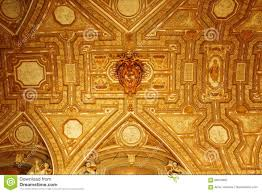 Decorated Ceiling St Peter S Basilica Narthex Gilt Ceiling Vatican Stock Photo