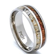 deer antler wedding band antler wedding band