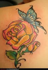 27 best yellow rose tattoo images on pinterest tattoo designs
