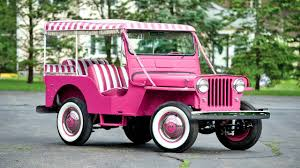 pink convertible jeep willys jeep gala surrey dj 3a 1960 youtube