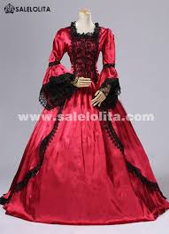 2016 noble vintage red flare sleeve lace medieval gothic victorian