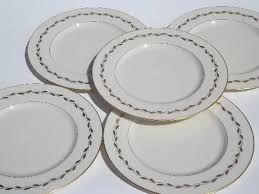 lenox china golden wreath dinner plates lot of five vintage plates