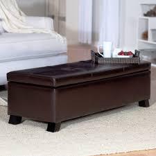 Purple Upholstered Bench Ottoman Astonishing Adeco Royal Blue Microfiber Rectangular