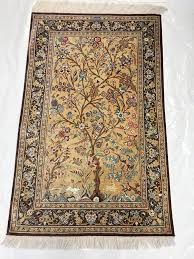 Oriental Rug Cleaning Scottsdale Traditional Rug Persian Ghom Silk Tree Of Life Overview Pv Rugs