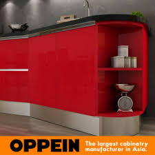 China Tanzania Exhibition Modern Red Lacquer Wooden Wholesale - Red lacquer kitchen cabinets
