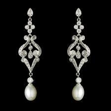Vintage Pearl Chandelier Earrings Bridal Earrings Wedding Jewellery Wedding Accessories Bridal