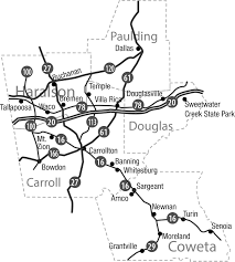 Banning State Park Map by Central Region U2013 West Georgia Textile Heritage Trail