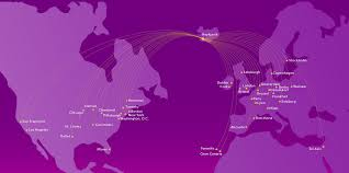 American Route Map by Route Map Wow Air