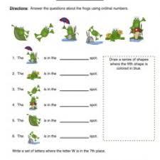 ordinal numbers worksheet kindergarten worksheets