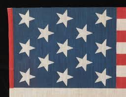 Us Flag 1860 13 Star Printed American Flag Unusually Large At 1stdibs