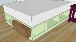 Bed Frame Plans With Drawers White Drawers For The Sized Storage Bed Diy Projects