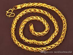 gold necklace styles images Wholesale 2 styles heavy mens 24k real solid gold finish thick jpg