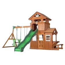 shop backyard discovery shenandoah residential wood playset with