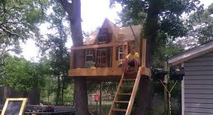 Tree House Backyard by Tree Houses And Backyard Zip Lines For Austin Texas
