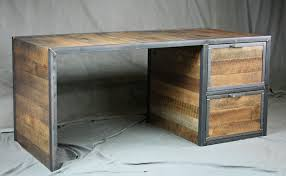 Vintage Office Desk Combine 9 Industrial Furniture Reclaimed Wood Desk With File