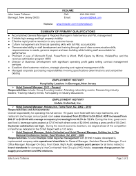 Sample Hotel Resume by Sample Hotel Manager Resume Resume For Your Job Application