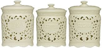 kitchen canisters ceramic tea coffee sugar jars lace ceramic home kitchen office storage