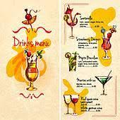 clip art of alcohol cocktails drink menu card template k18819486