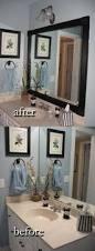 Flat Bathroom Mirror by Diy Bathroom Mirror Frame For Under 10 Blue Wood Stain Diy