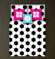 custom hexagon soccer ball bedding set for kids teens shop hexagon soccer ball bedding set duvet cover and shams boys and girls bedroom decor